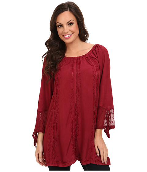 Scully - Honey Creek Jenna Blouse (Burgundy) Women's Blouse
