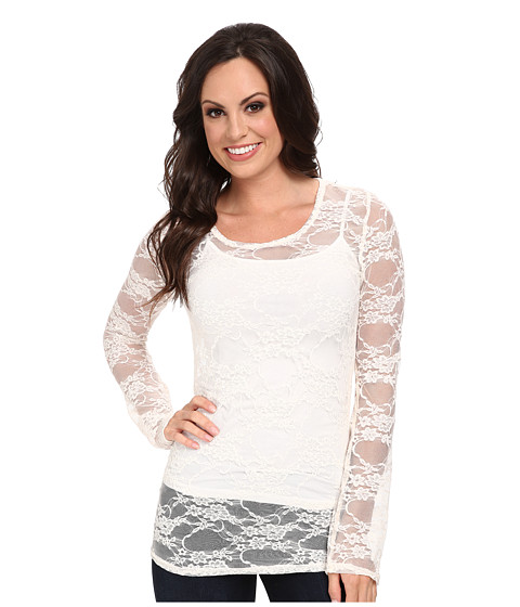 Scully - Honey Creek Victoria Lace Blouse (Ivory) Women's Blouse