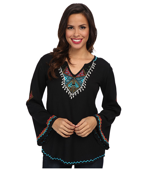 Scully - Tandra Embroidered Tunic (Black) Women