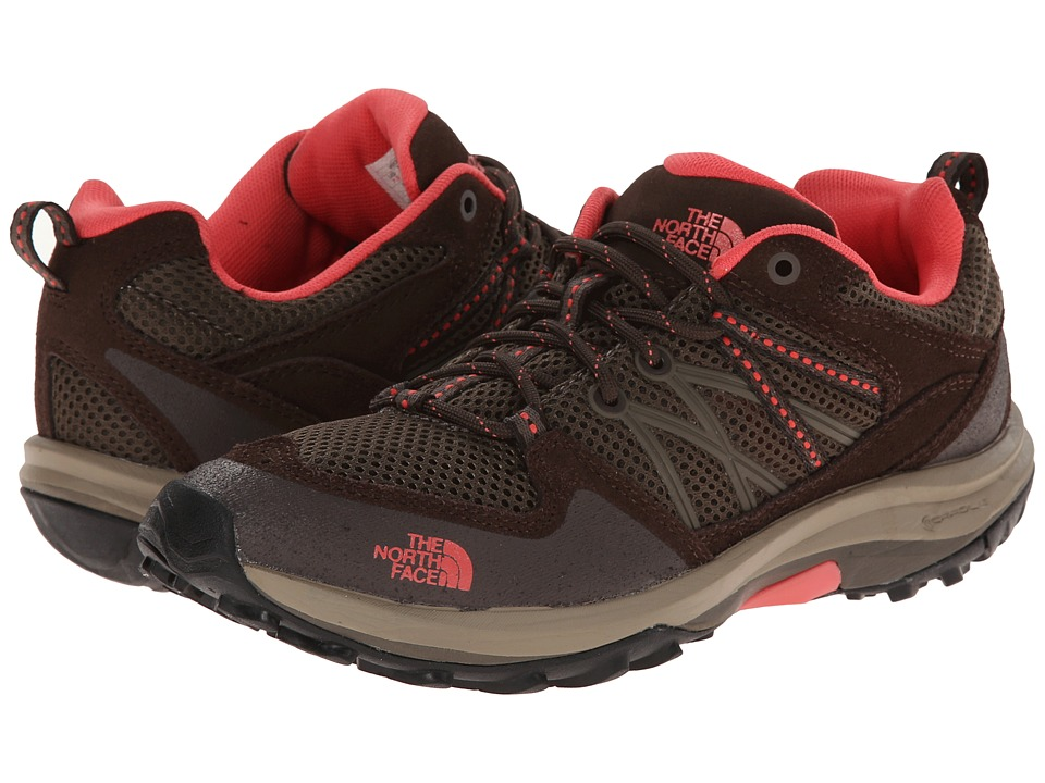 The North Face - Storm Fastpack (Weimaraner Brown/Fiesta Red) Women's Shoes