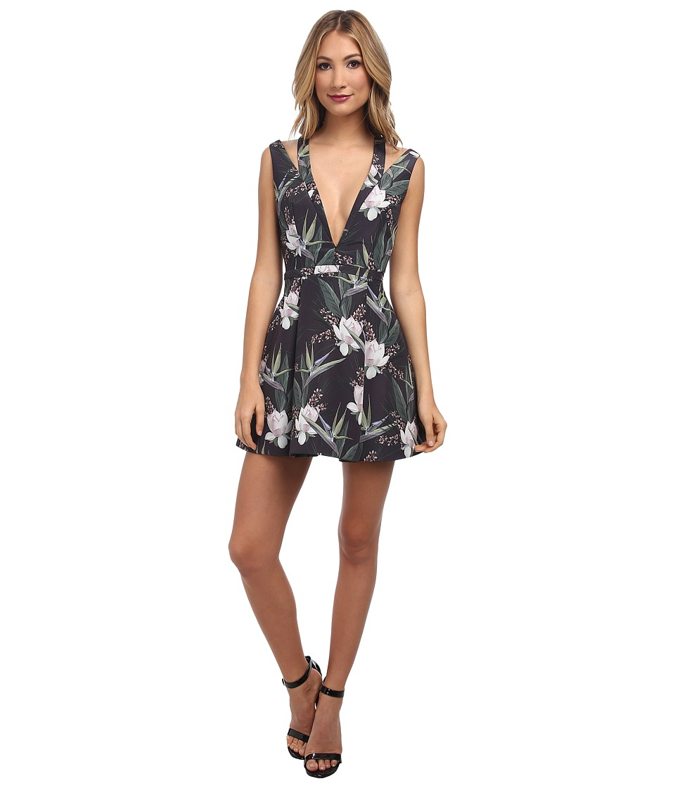 StyleStalker - Catch A Wave Dress (Dark Tropical) Women's Dress