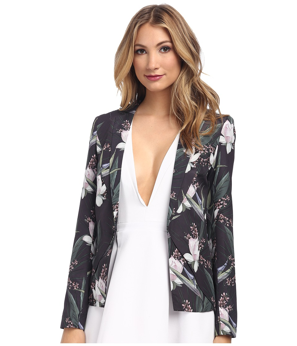 StyleStalker - Forever Floral Blazer (Dark Tropical) Women's Jacket