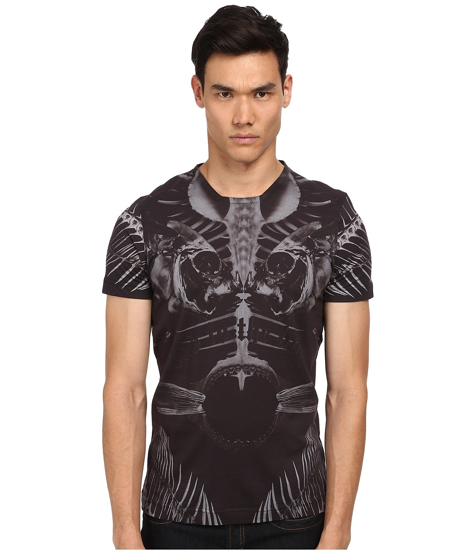 Bikkembergs - Fish Graphic Tee (Black) Men's Short Sleeve Pullover