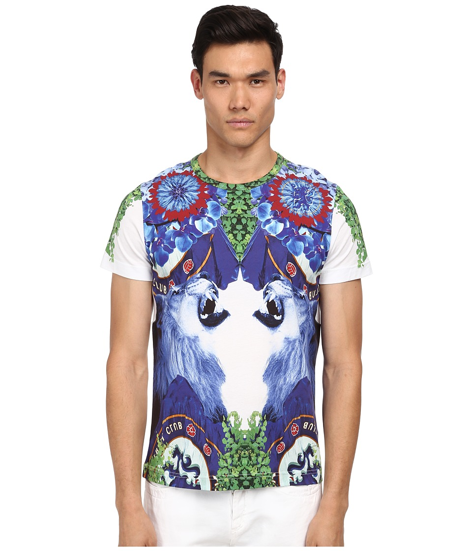Bikkembergs - Lion Graphic Tee (White) Men's T Shirt