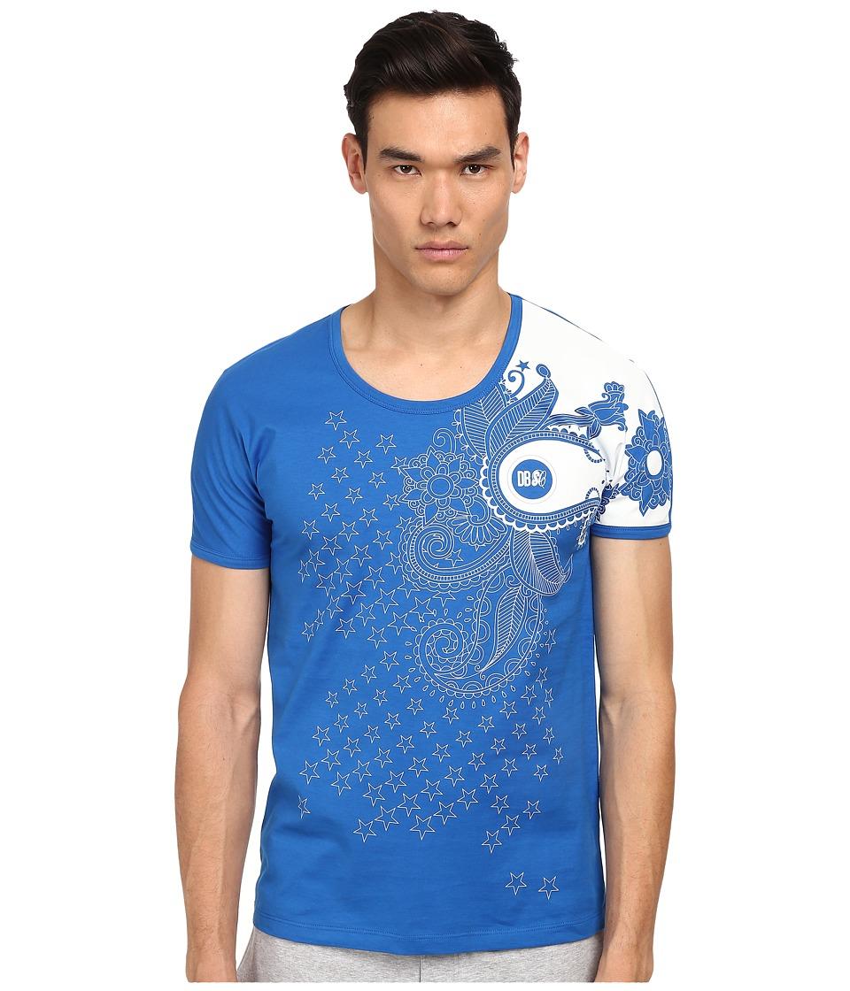 Bikkembergs - Stars/Paisley Tee (Blue) Men's T Shirt