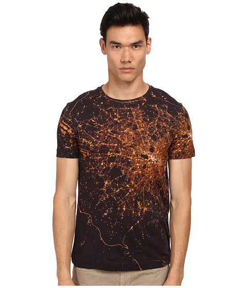 Bikkembergs - Shattered Graphic Tee (Black) Men