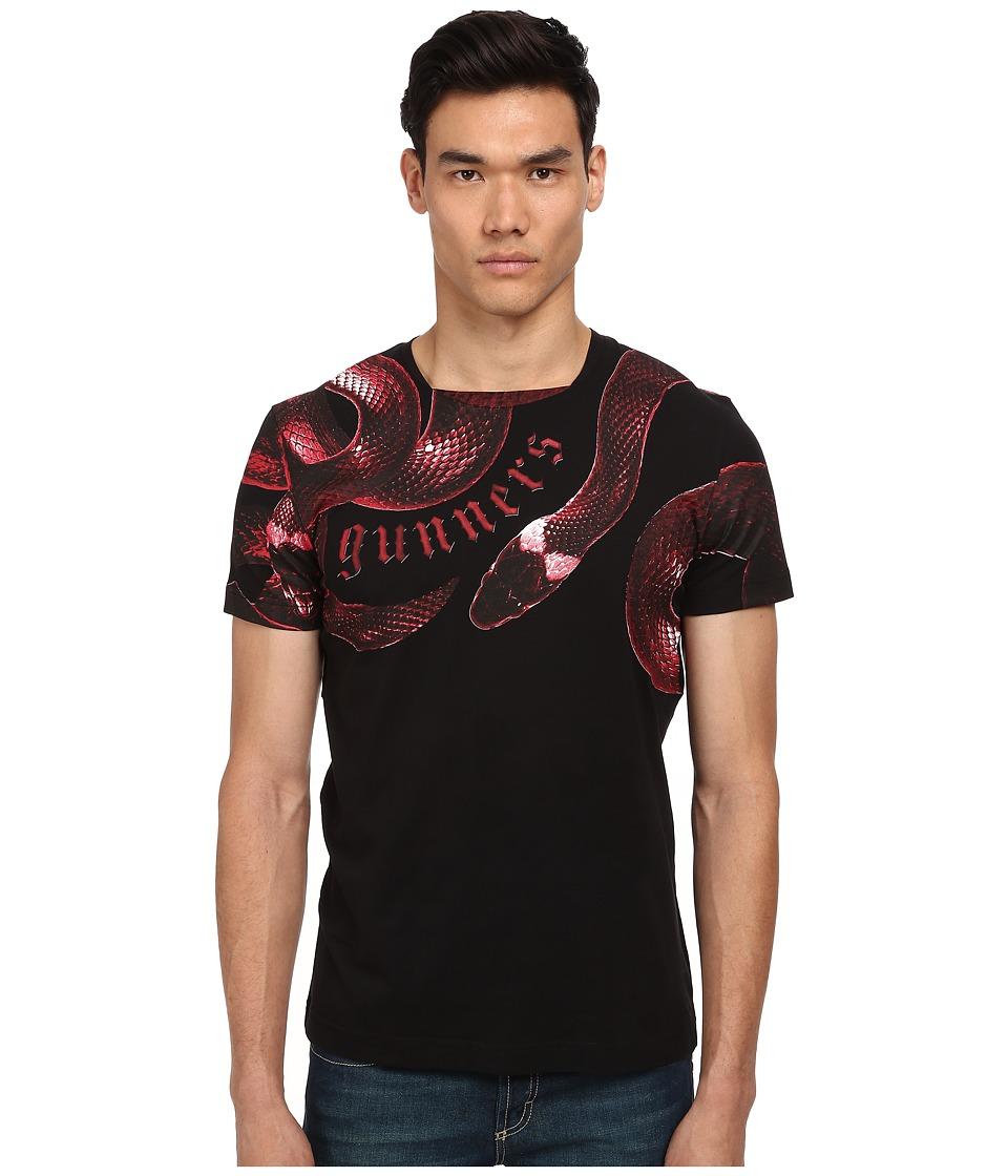 Bikkembergs - Snake Gunners Tee (Black) Men's T Shirt