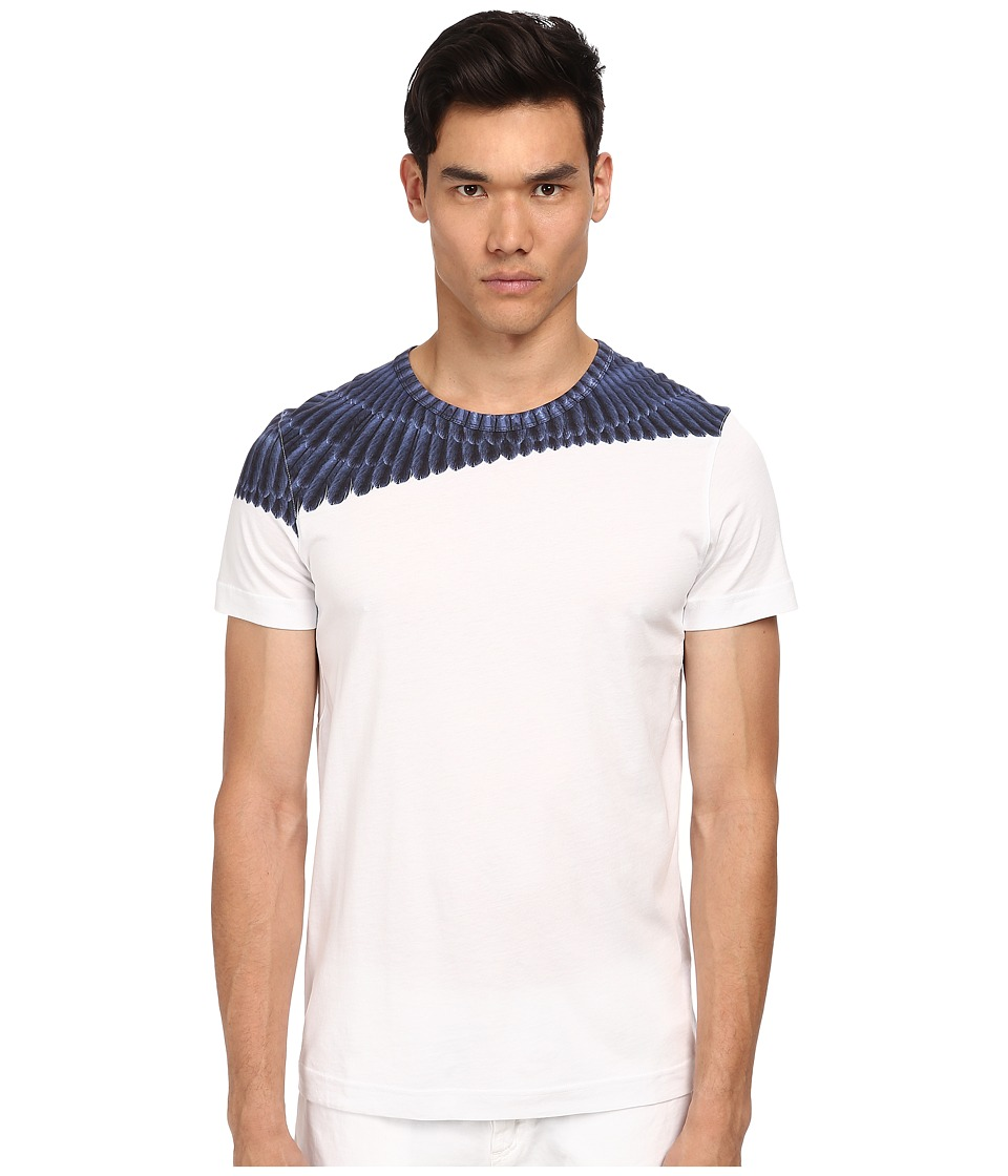 Bikkembergs - Scales Graphic Tee (White) Men's T Shirt