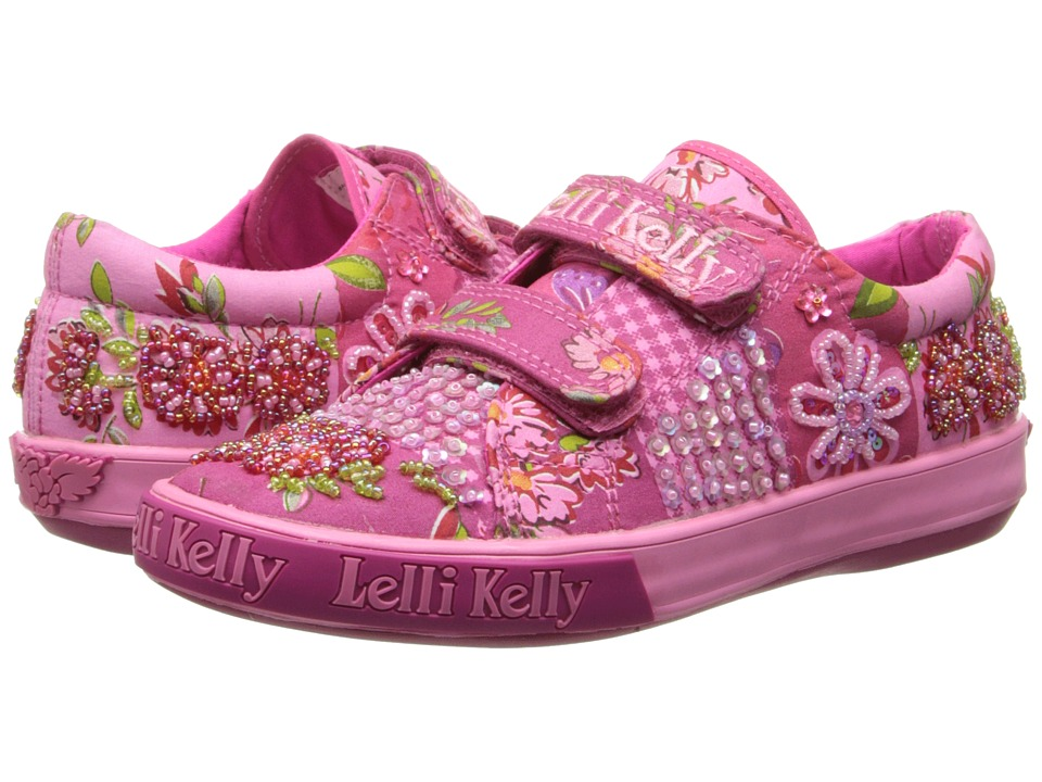 Lelli Kelly Kids - Duffy Hook and Loop (Toddler/Little Kid/Big Kid) (Fuchsia Fantasy) Girls Shoes