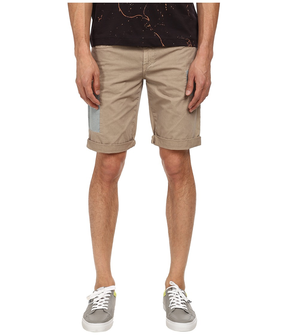 Image of Bikkembergs - Cargo Shorts (Ecru) Men's Shorts