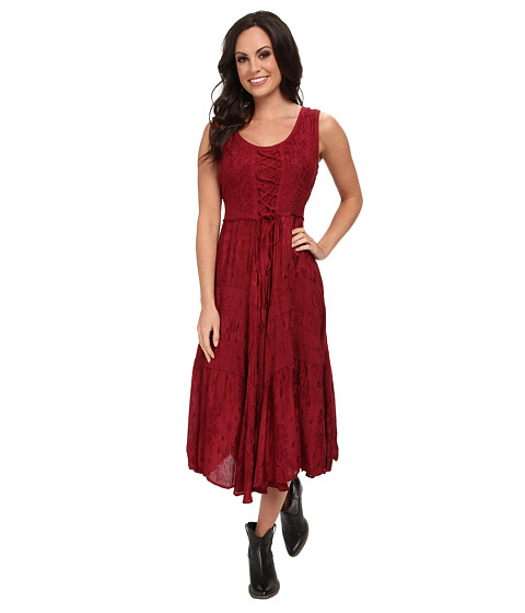 Scully - Honey Creek Amelie Dress (Burgundy) Women