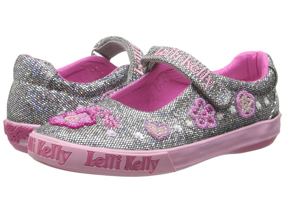 Lelli Kelly Kids - Glitter Olivia Dolly (Toddler/Little Kid/Big Kid) (Pewter Glitter) Girl's Shoes