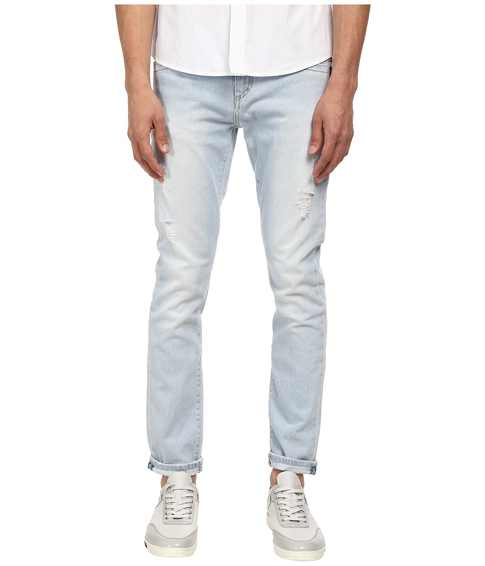 Bikkembergs - Five-Pocket Light Wash Jean (Denim) Men's Jeans