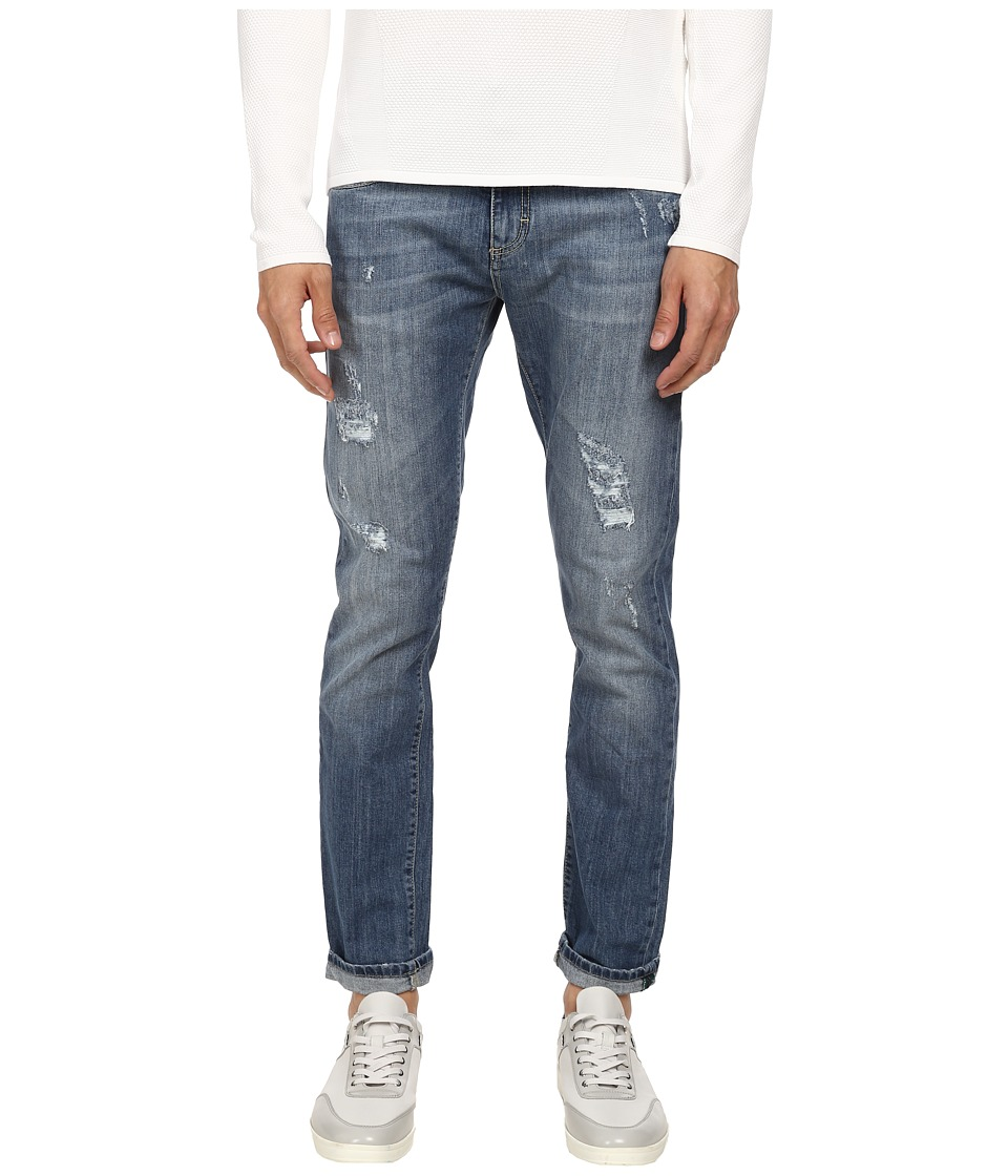 Bikkembergs - Five-Pocket Medium Wash Jean (Blue) Men's Jeans
