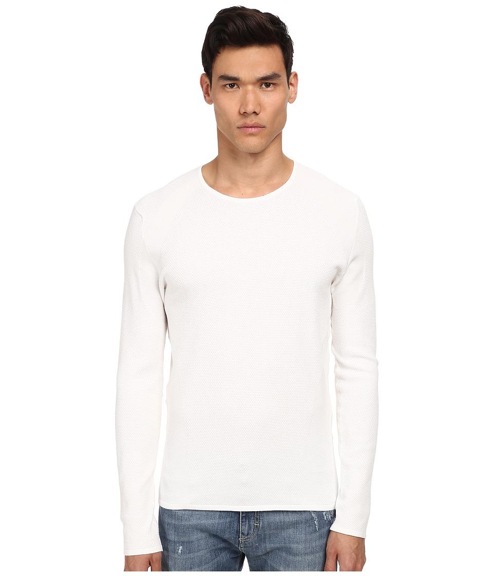Bikkembergs - Honeycomb Sweater (White) Men's Sweater