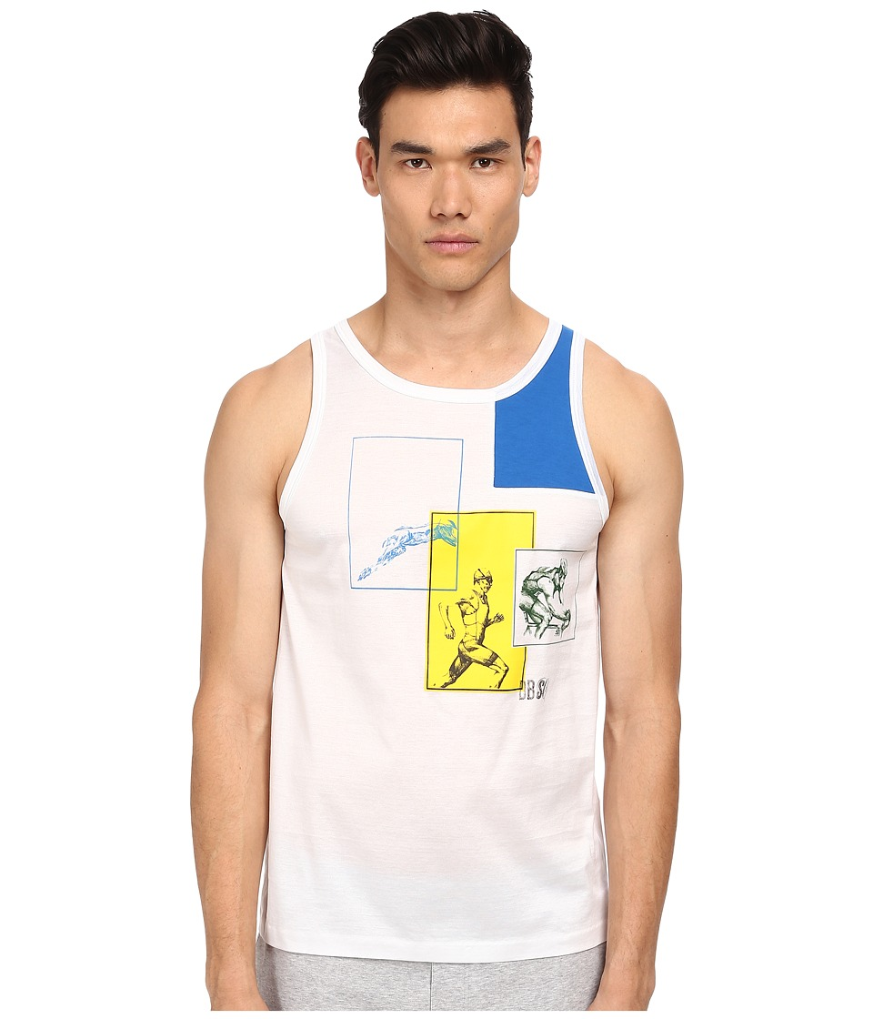 Bikkembergs - Motion Tank Top (White) Men's Sleeveless