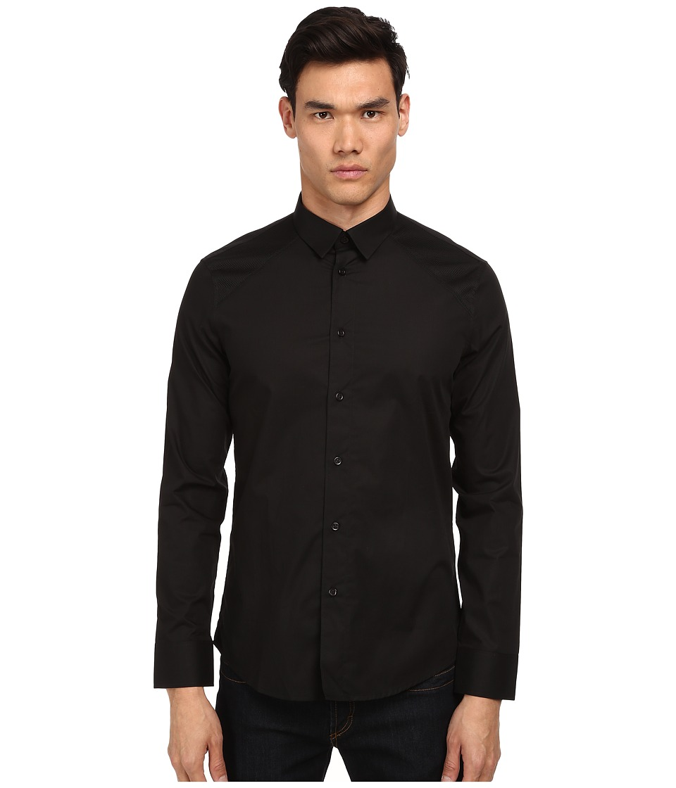 Bikkembergs - Shoulder Contrast Button Up (Black) Men