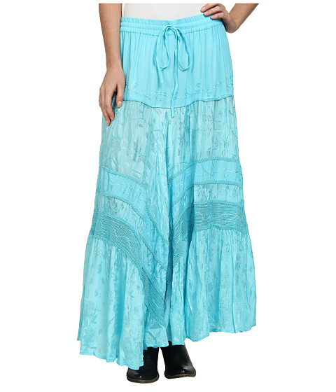 Scully - Honey Creek Jackie Skirt (Turquoise) Women's Skirt