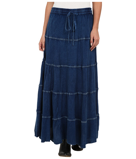 Scully - Honey Creek Panel Skirt (Denim) Women's Skirt