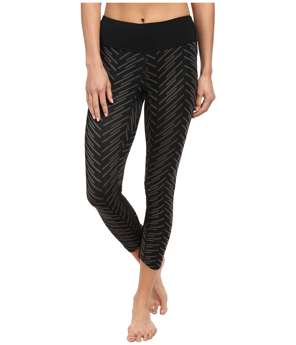 Pearl Izumi - Flash 3/4 Run Tight Print (Black/Black Print) Women's Workout