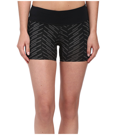 Pearl Izumi - Flash Run Short Tight Print (Black/Black Print) Women's Shorts