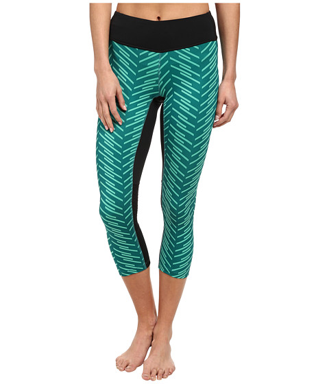 Pearl Izumi - Flash 3/4 Run Tight Print (Black/Deep Lake Print) Women's Workout