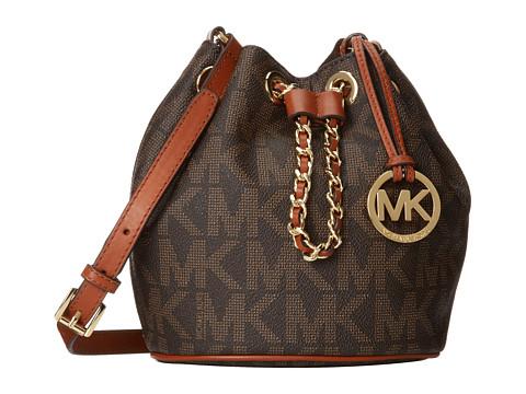 MICHAEL Michael Kors Frankie Drawstring Crossbody (Brown) Cross Body Handbags