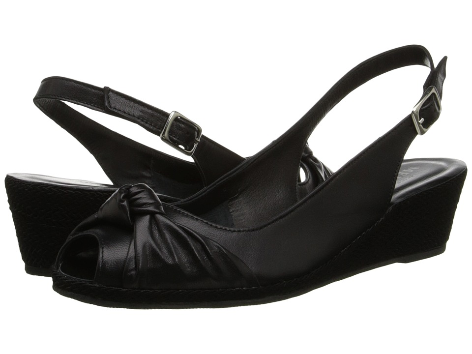 Sesto Meucci - 1705 (Black Nappa Leather) Women's Wedge Shoes
