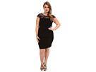 Plus Size Lace Top Cutaway Sheath