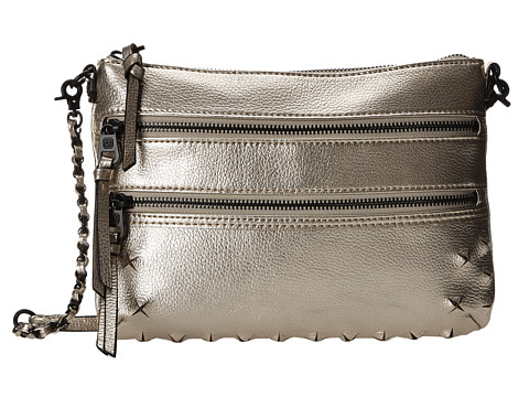 Elliott Lucca - Messina 3 Zip Clutch (Pyramid Stud Gold) Clutch Handbags