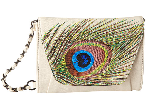 Elliott Lucca - Artisan Envelope Smartphone Crossbody (Peacock Feather Linen) Cross Body Handbags