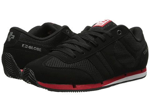 Globe - Pulse Lite (Black/Black/Red) Men's Skate Shoes