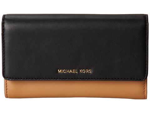 MICHAEL Michael Kors Colby Carryall (Suntan/Black) Handbags