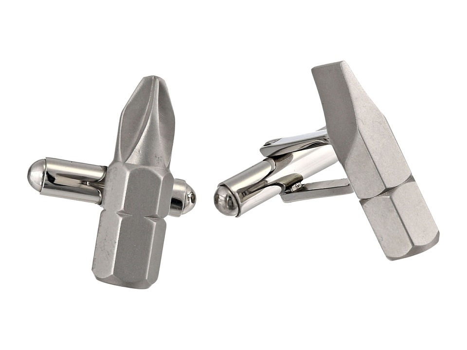 Cufflinks Inc. - Phillips and Flathead Screwdriver Bit Cufflinks (Gray) Cuff Links