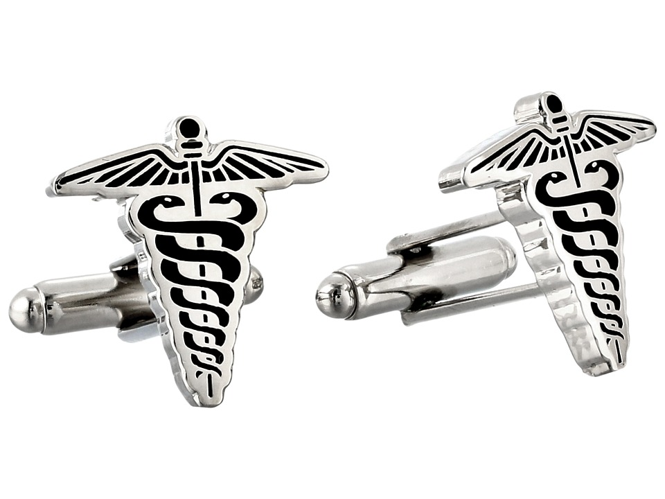 Cufflinks Inc. - Caduceus Cufflinks (Black) Cuff Links