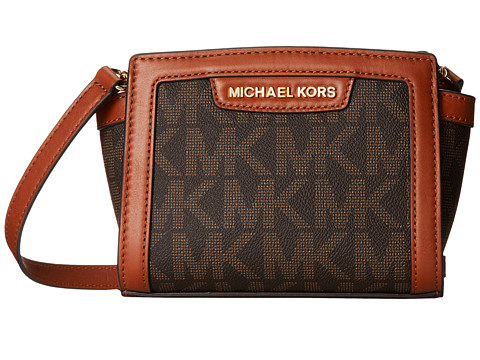 MICHAEL Michael Kors - Selma Mini Messenger (Brown) Cross Body Handbags