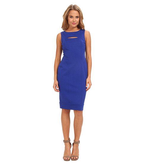 Vince Camuto - Sleeveless Ponte Bodycon Dress w/ Cutout Detail (Royal) Women's Dress