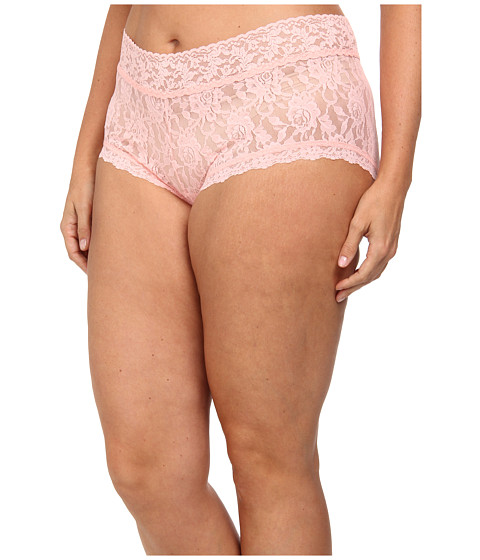 Hanky Panky - Plus Size Signature Lace Solid New Boyshort (Rosewater) Women's Underwear