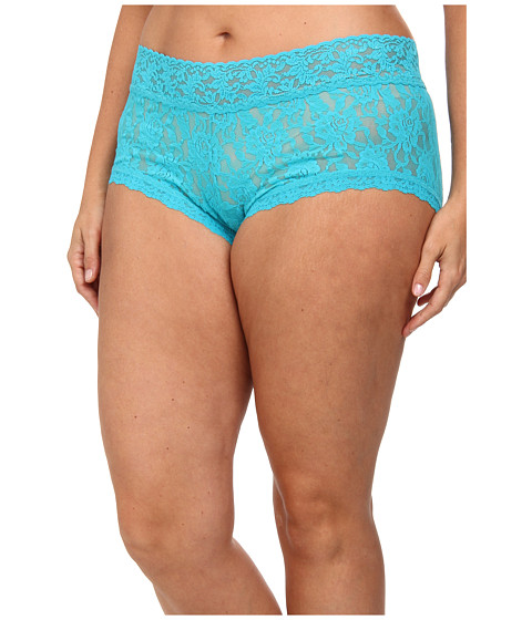 Hanky Panky - Plus Size Signature Lace Solid New Boyshort (Turkish Tile) Women's Underwear