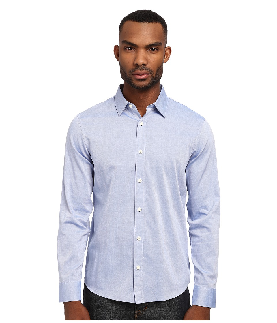 Michael Kors - Royal Oxford Tailored Shirt (Waterfall) Men's Long Sleeve Button Up