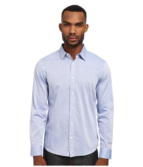 Michael Kors - Royal Oxford Tailored Shirt (Waterfall) Men