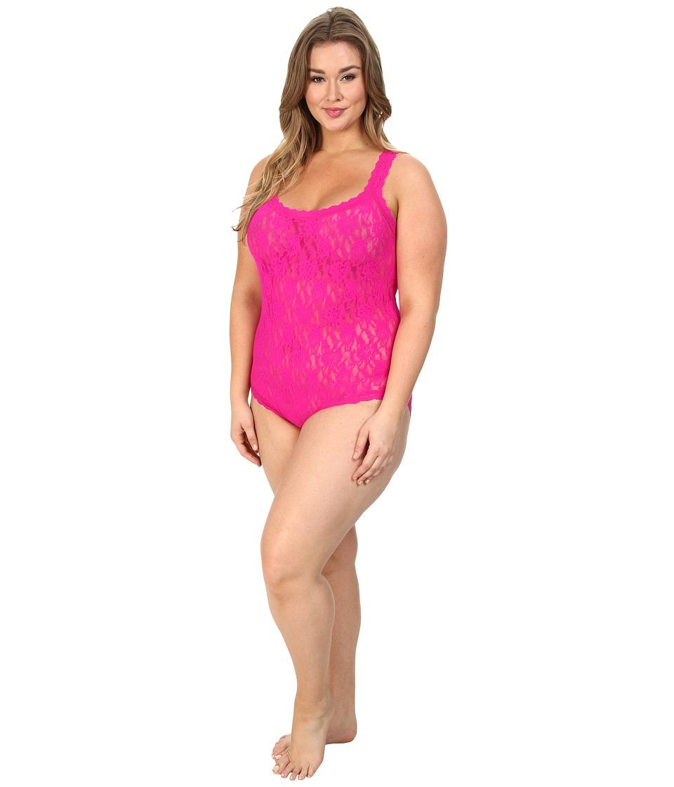 Hanky Panky - Plus Size Signature Lace Bodysuit (Tulip Pink) Women's Underwear