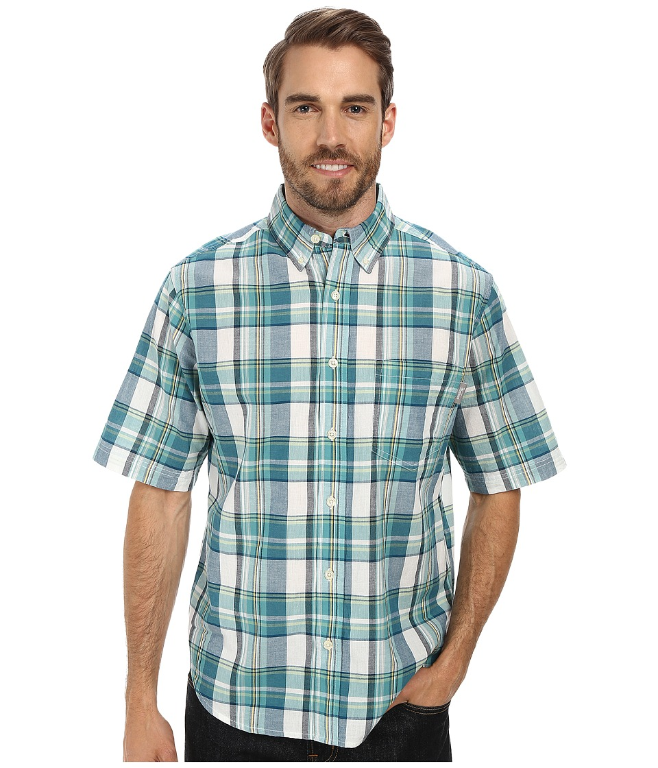 Woolrich - Timberline S/S Shirt (Cadet Blue) Men's Short Sleeve Button Up
