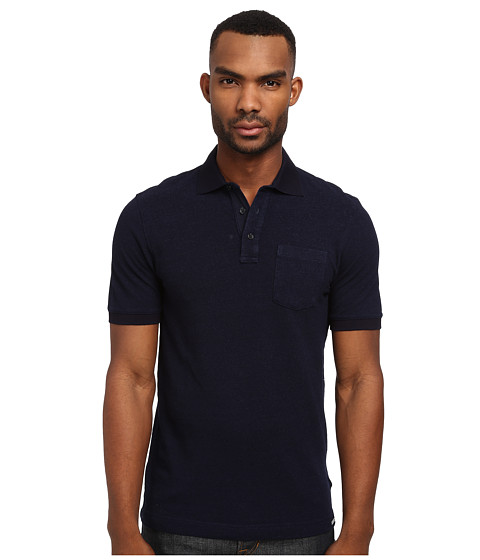 Michael Kors - Indigo Pique Polo Shirt (Indigo) Men