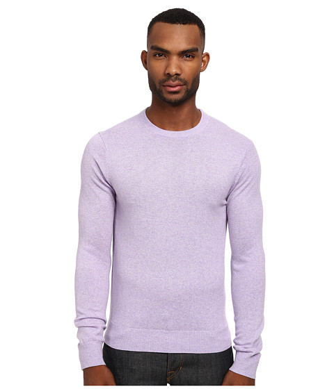 Michael Kors - Cashmere Crewneck Sweater (Violet) Men's Long Sleeve Pullover