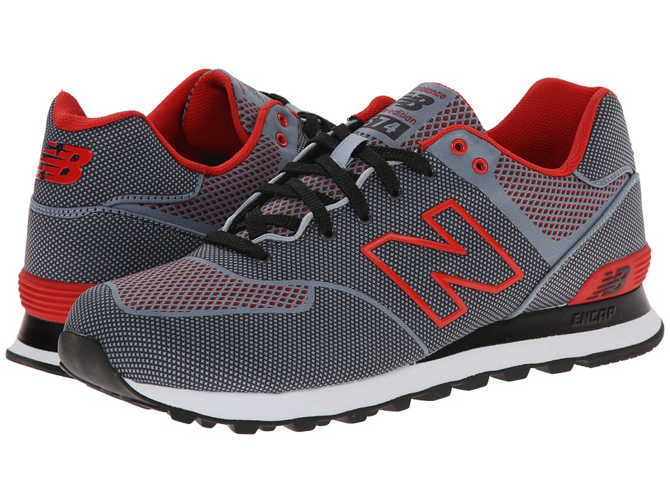 New Balance Classics - ML574 (Grey/Black/Red) Men's Shoes