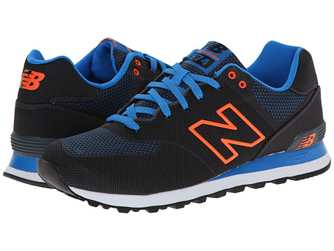 New Balance Classics - ML574 (Black/Blue/Orange) Men's Shoes