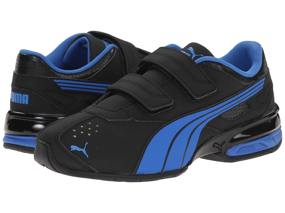PUMA - Tazon 5 NM V (Toddler/Little Kid/Big Kid) (Black/Strong Blue) Men's Hook and Loop Shoes