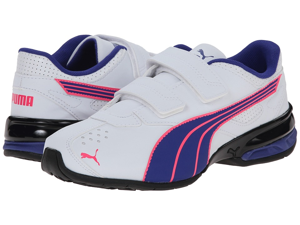 Puma Kids - Tazon 5 NM V (Toddler/Little Kid/Big Kid) (White/Clematis Blue/Fluorescent Pink) Girls Shoes