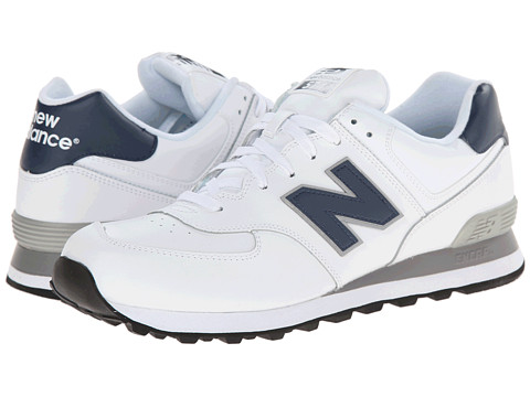 New Balance Classics - NB574 (White/Navy) Men's Classic Shoes
